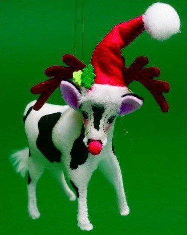 Annalee Christmas Ornament Cow Dressed as Rudolph the Red-Nosed Reindeer by  Annalee Dolls Inc - Pin By Linda Sumruld On Anna Lee Dolls Pinterest Christmas