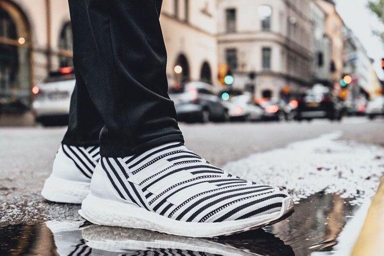 652976467 Adidas Nemeziz Tango 17+ 360Agility TR UltraBoost men s running shoes white  zebra at JUstores