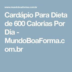 Menu para dieta de 600 calorias