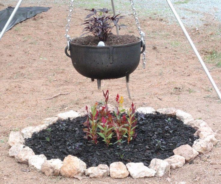 Gothic Garden Diy Cauldron For A Gothic Garden This Is The