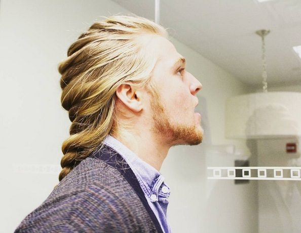 Man Braids 25 Men On Instagram Rocking The Man Braid Older Mens Hairstyles Best Fade Haircuts Long Hair Styles Men