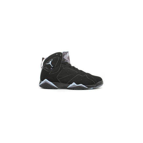78d8511a5916c5 air jordan 7 retro black chambray light graphite shoes  air jordan 7 black chambray  light graphite (135) liked on polyvore