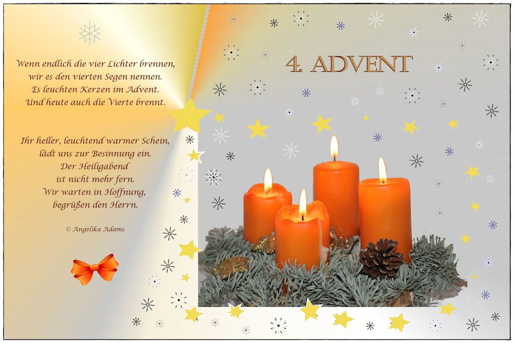4 advent gedichte und sp che advent kerzen und. Black Bedroom Furniture Sets. Home Design Ideas