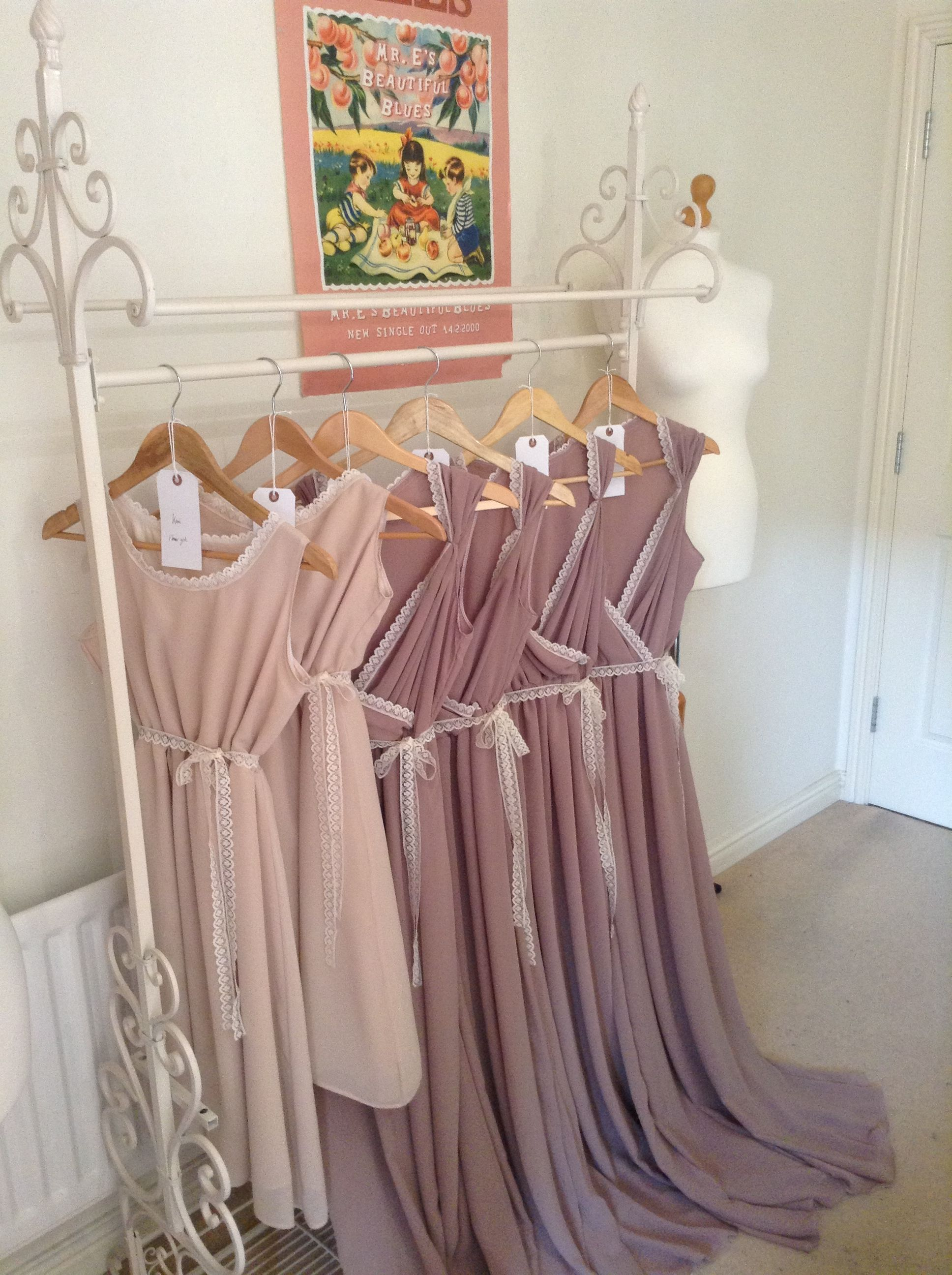 Nude and dusky pink chiffon bridesmaid dresses www for Dusky pink wedding dress