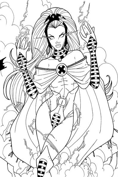 X Men Storm Coloring Pages Marvel Coloring Coloring Pages