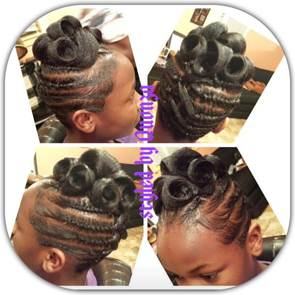 Pins Curls Two Strands Black Women Updo Hairstyles Black Hair Updo Hairstyles Kid Braid Styles