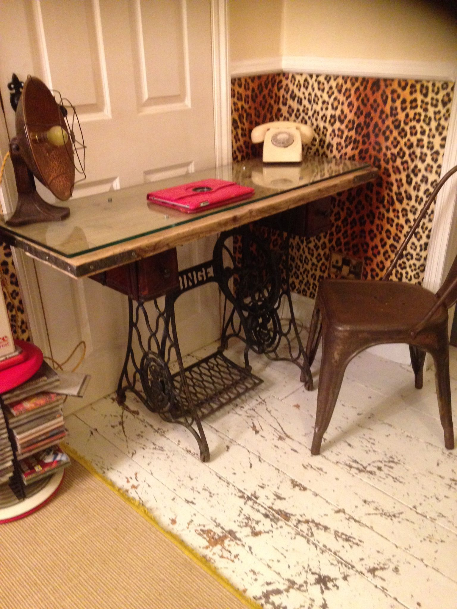 Chic Desk Console Table Singer Sewing Machine Base Kitchen