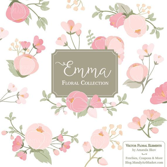 Emma floral bunches clipart vectors pink flowers pastel flowers emma floral bunches clipart vectors pink flowers pastel flowers flower clipart floral clipart wedding flowers mightylinksfo