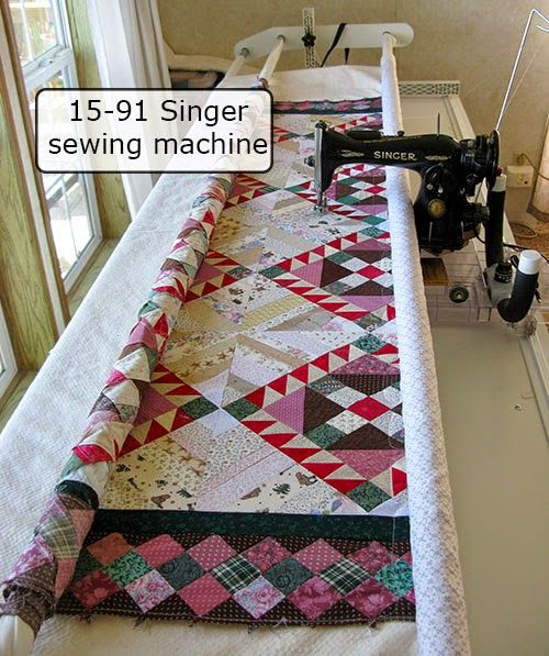 Friday Spotlight: Connie's Vintage Singer on a Quilting Frame ... : spotlight quilting - Adamdwight.com