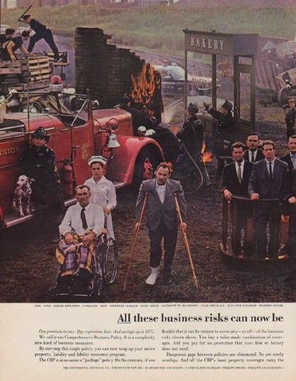 1963 The Continental Insurance Companies Vintage Ad Business