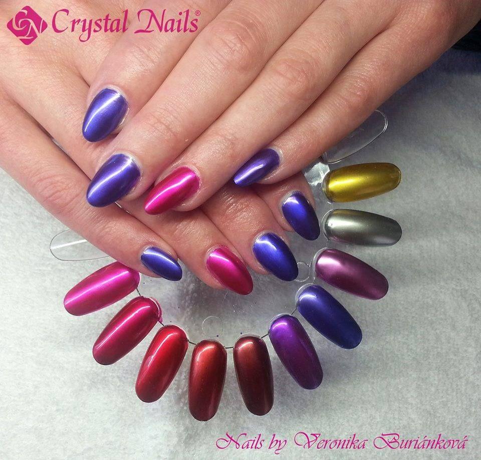 Crystal Chrome Nails: ChroMe CrystaLac (gel-polish) In 12 Metal Colors: Soak Off