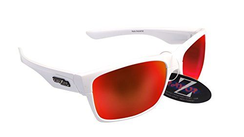 RayZor Professional Lightweight Dark Red UV400 Sports Wrap Fishing Sunglasses... GJ9MKYyIFR