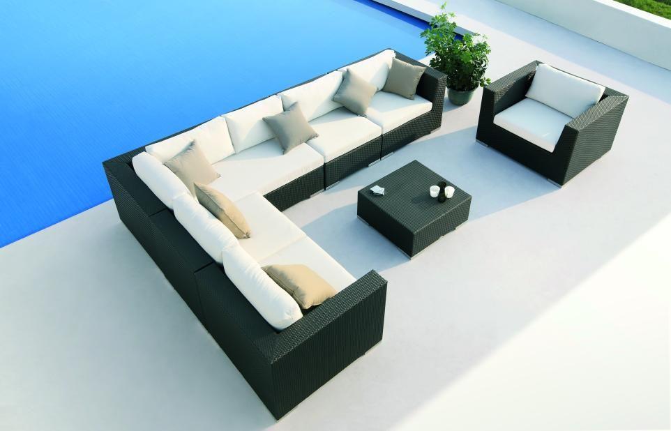 Magnifique Salon De Jardin En Resine Tressee Le Salon Lounge