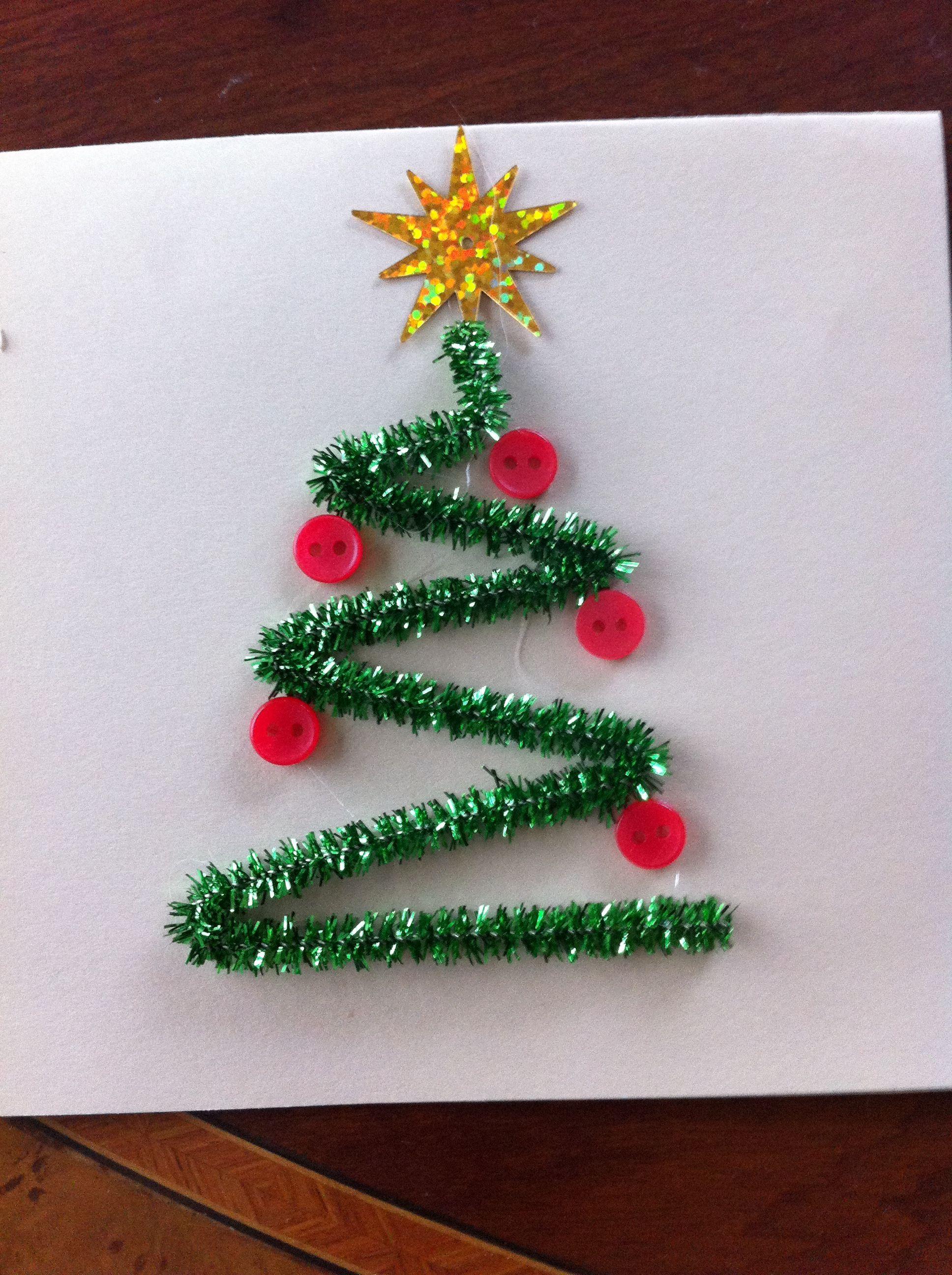 Tarjeta navide a navidad actividades navide as for Arbol de navidad manualidades para ninos