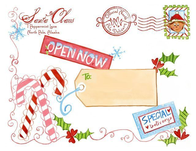 north pole mailing label from santa from Design Dazzle Christmas - mailing label designs