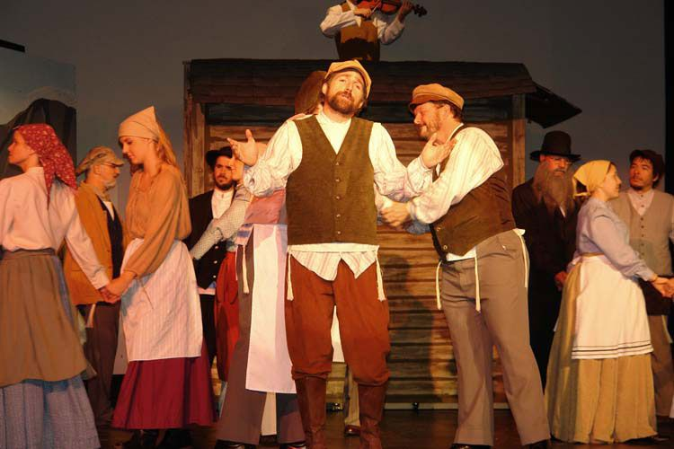 Tevye Is Wearing A Collarless Shirt Heavy Woven Vest Trousers Prayer Shawl Cap And Boots Fiddler On The Roof Costume Rentals Theatre Costumes