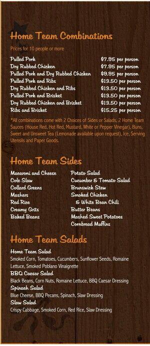 Pin by FSBBQ on Menu   Food truck menu, Bbq food truck ...