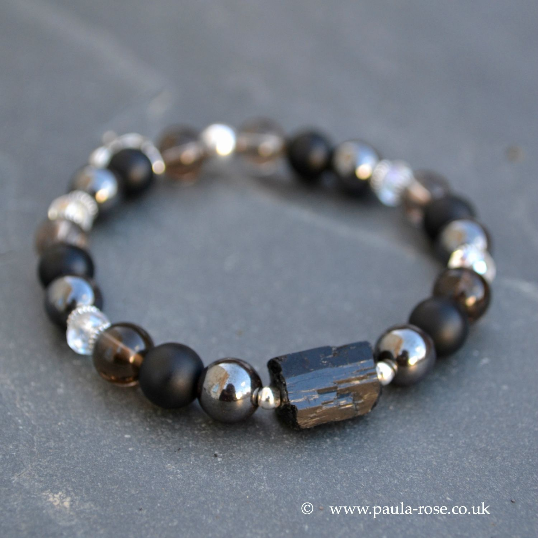 Power Energy Tourmaline Bracelet Wristband Balance Health Beads Stretch Ion Body