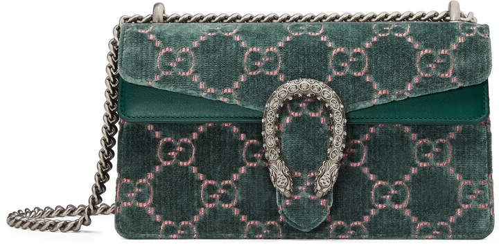 Dionysus GG velvet small shoulder bag - Black Gucci quh8Q