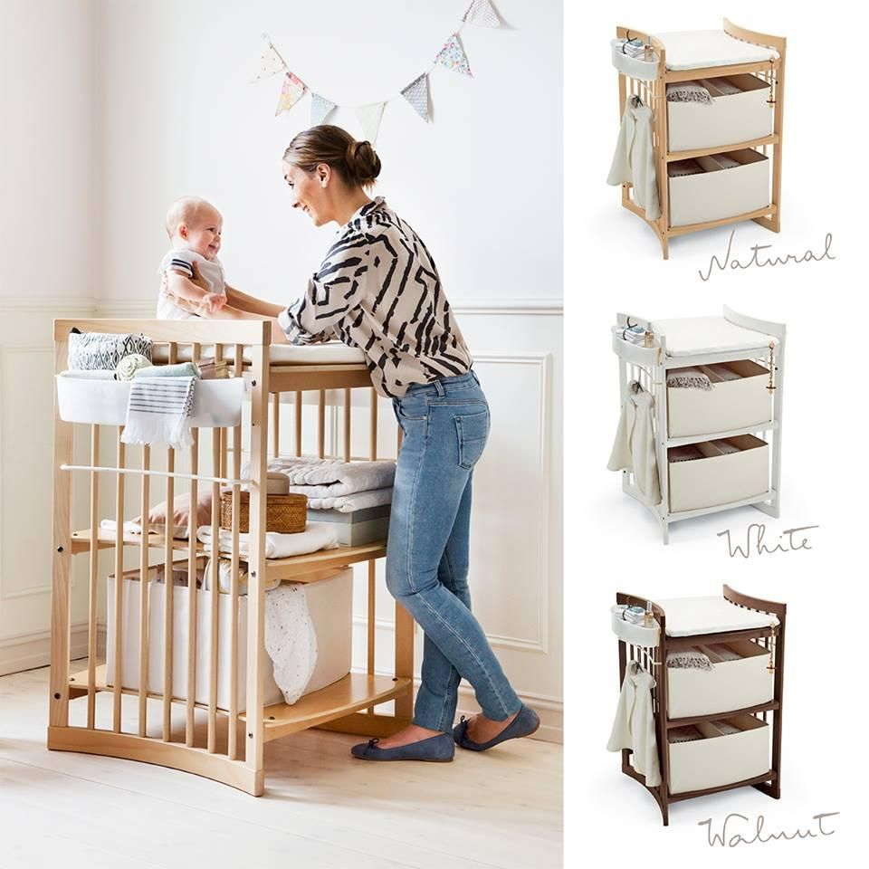 Stokke® Care™ Raises Your Baby Higher For Eye Contact At Changing Time With