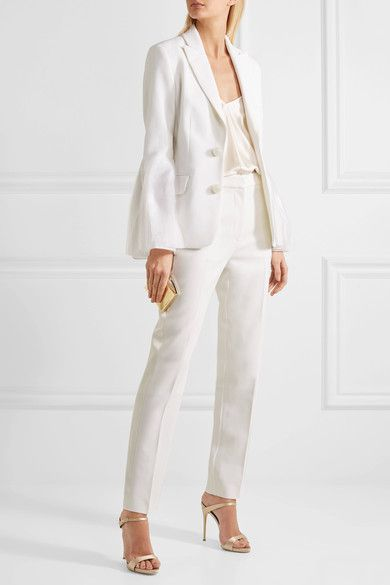 Colwyn Satin-trimmed Stretch-cady Straight-leg Pants - Ivory Roksanda Ilincic Visit New Cheap Price Manchester Great Sale Sale Online Clearance With Paypal Cheap Sale Outlet Store wUI3JgvKYM