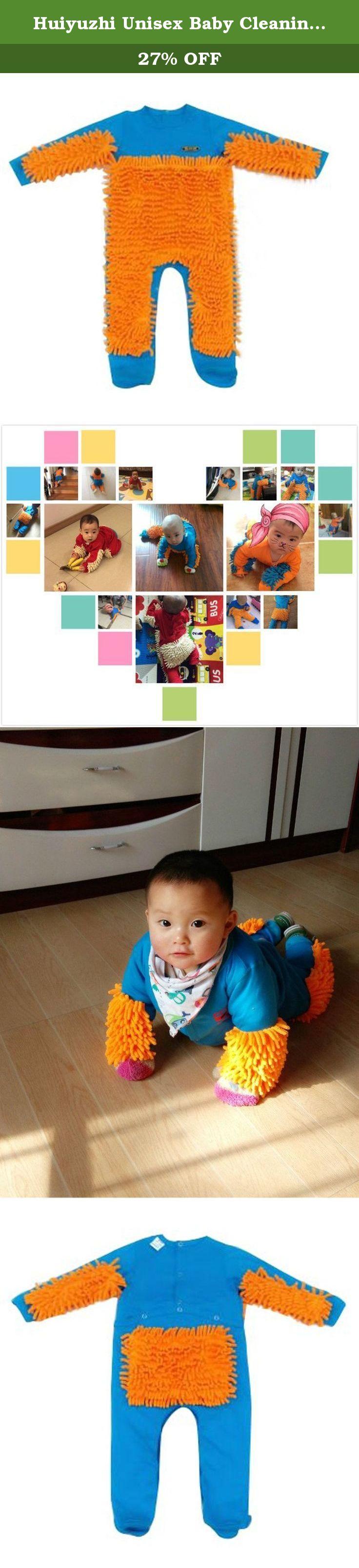 59b3d91c32d8 Huiyuzhi Unisex Baby Cleaning Mop Rompers Jumpsuit Crawling Clothe ...