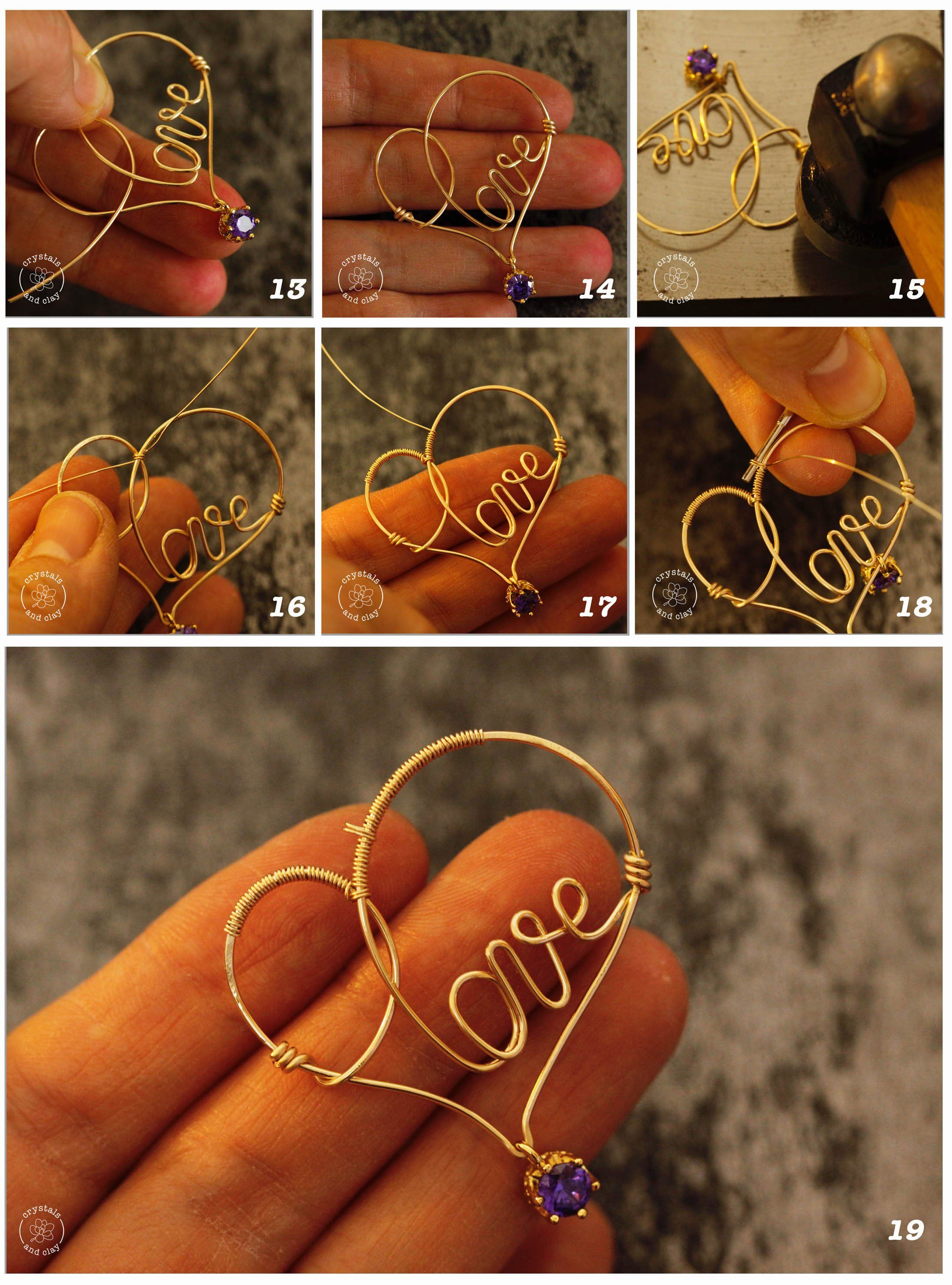 Photo of how to make wire wrapped heart pendant