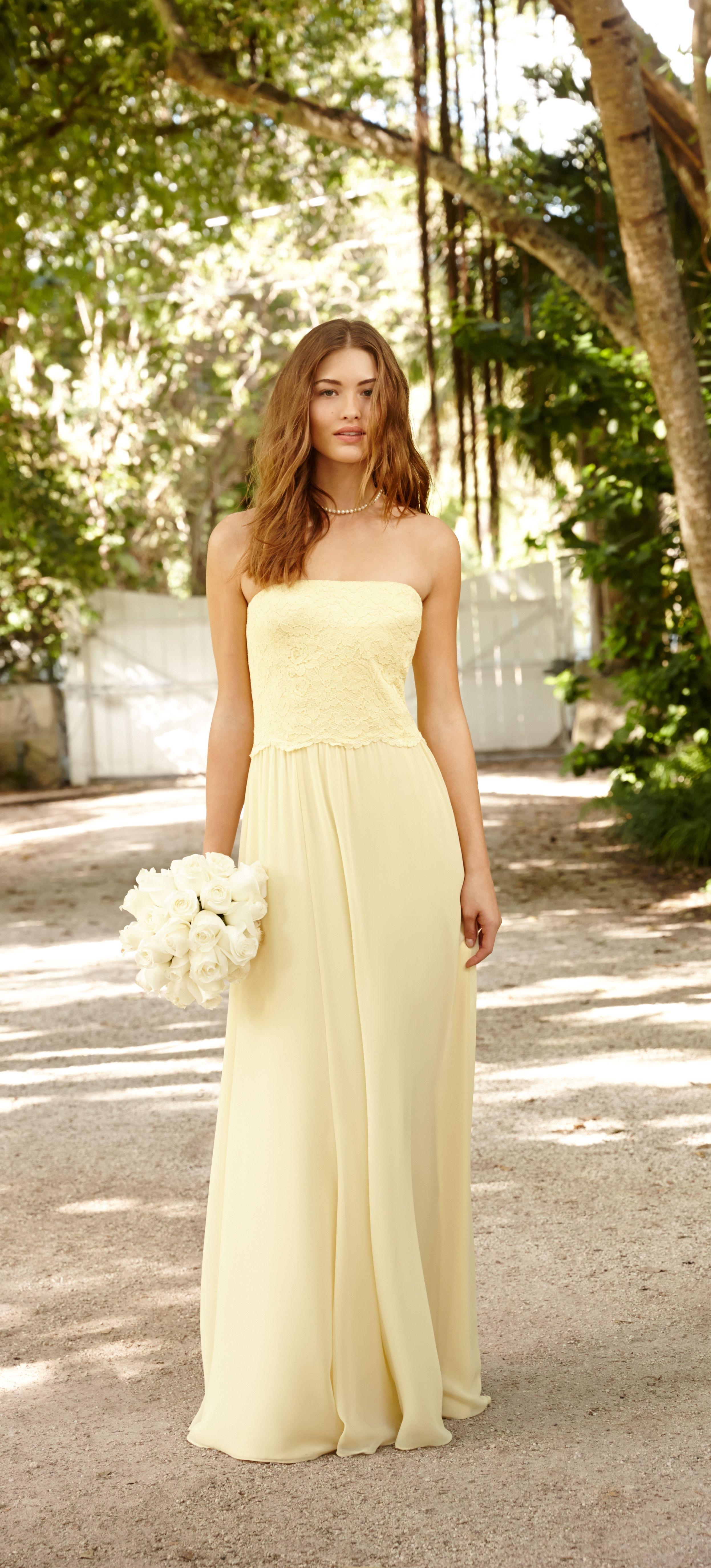 Lauren ralph lauren wedding sweet and modern a pale yellow lauren ralph lauren wedding sweet and modern a pale yellow bridesmaid dress is ombrellifo Images