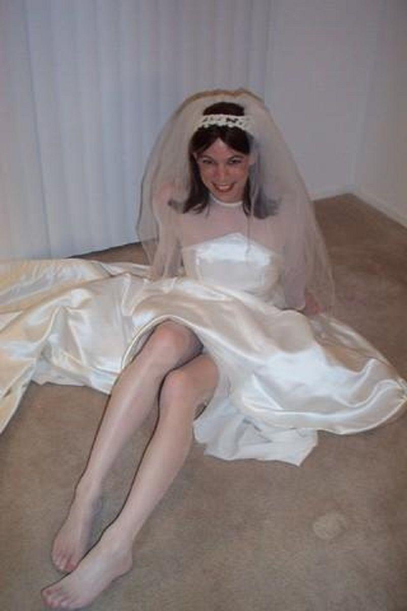 Shemales wearing wedding dress