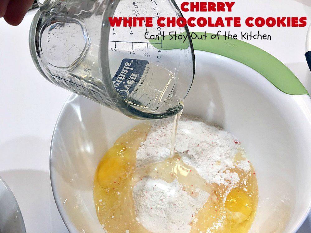 Cherry white chocolate cookies recipe chocolate