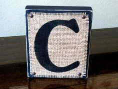 Well That's Craftastic: Hand Painted Wood Block Letters with Burlap