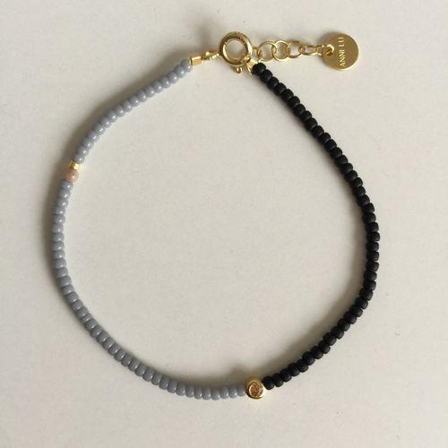 ANNI LU // DISCO Grey bracelet