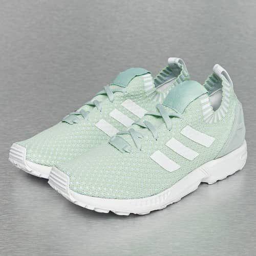 575b063d7114a ... fantastische Adidas ZX Flux Primeknit Sneakers Vapour (groen wit) ...
