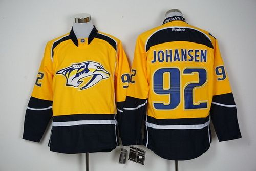 Predators Ryan Johansen Yellow Home 2017 Stanley Cup Final Patch Stitched  NHL Jersey 4cf5210fd