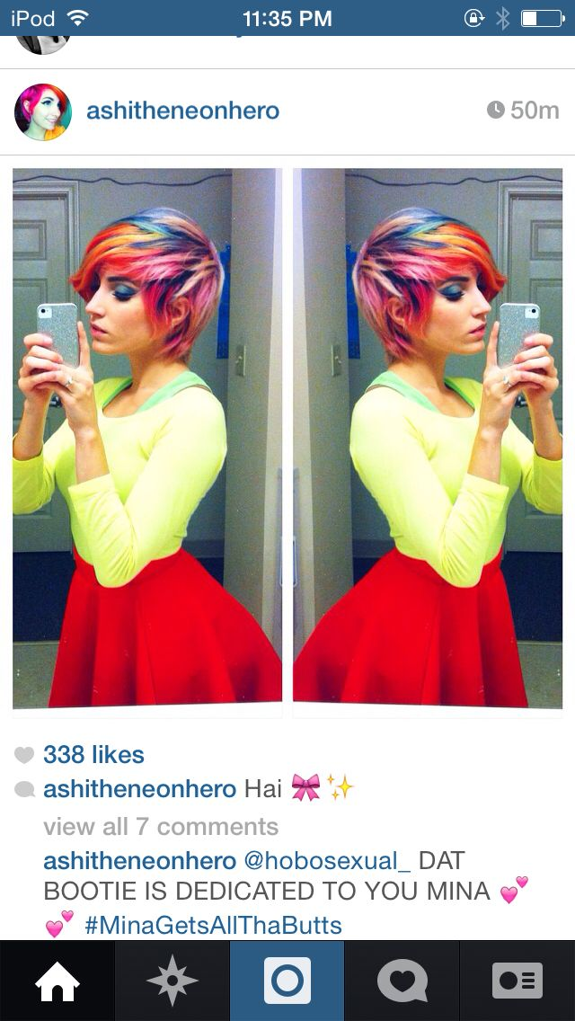 Rainbow Pixie Cut Wonderful Hair Hair Rainbow Hair Cut My Hair