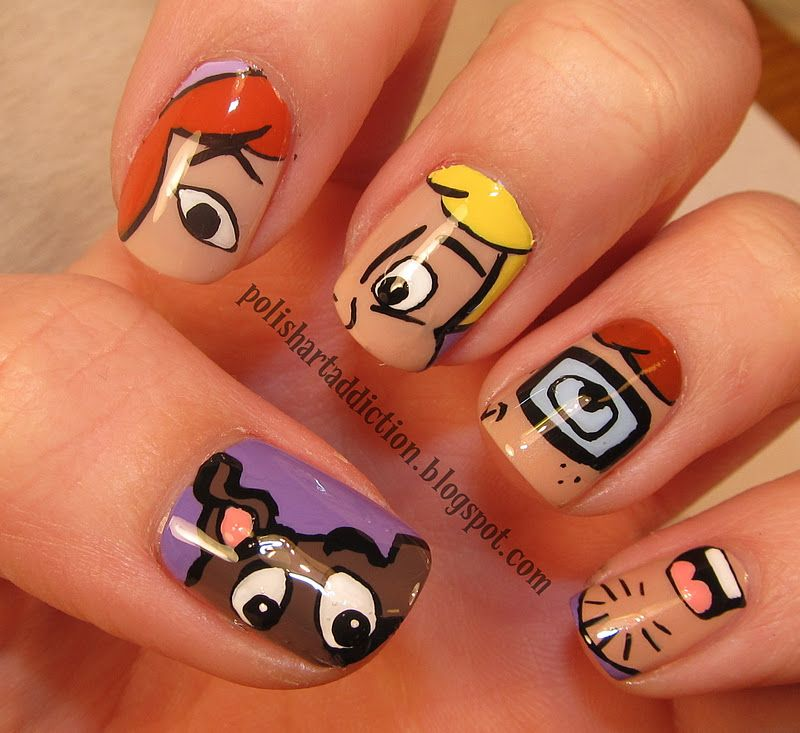 Polish art addict nail art character nails pinterest beauty polish art addict nail art scooby doofancy prinsesfo Image collections