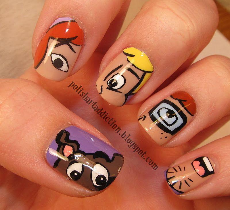 Polish art addict nail art character nails pinterest scooby polish art addict nail art prinsesfo Images
