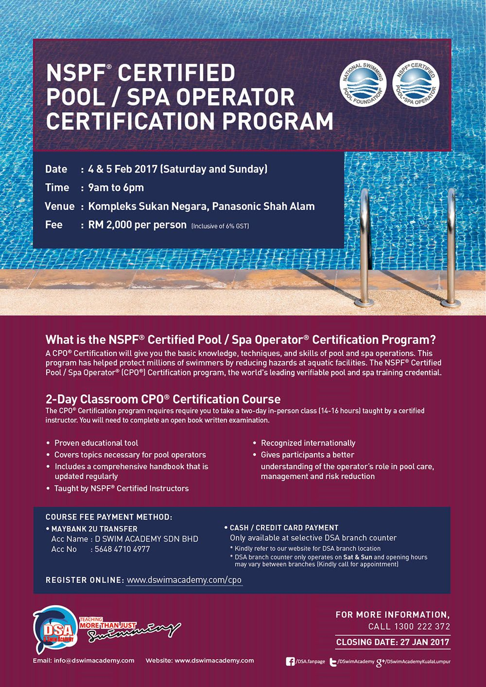 Nspf certified poolspa operator certification program teaching nspf certified poolspa operator certification program 1betcityfo Images
