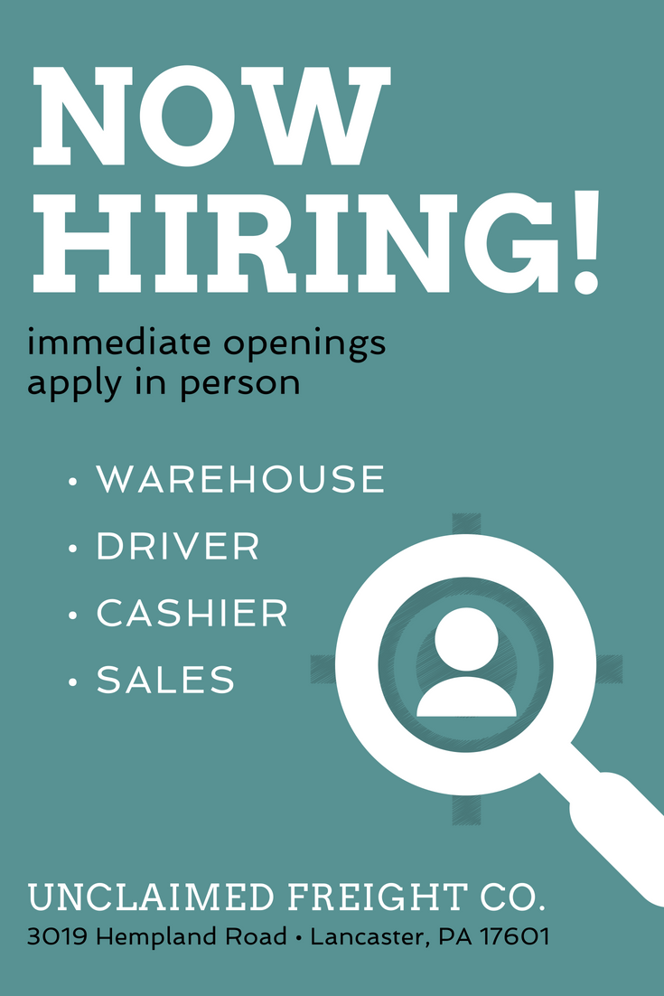 We Are Hiring We Have Immediate Openings For The Following Positions Warehouse Delivery Driver Cashier Sal Sales Job Description Career How To Apply