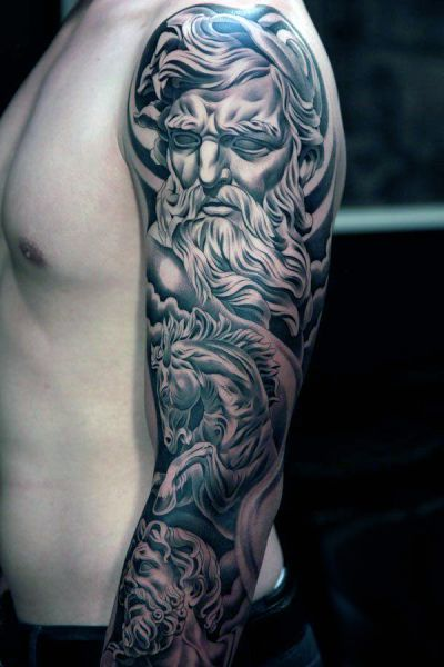 Zeus Arm Tattoo Tattoos Tatuaże Na Ramieniu Tatuaże I