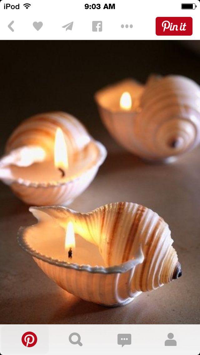 Seashell candles!