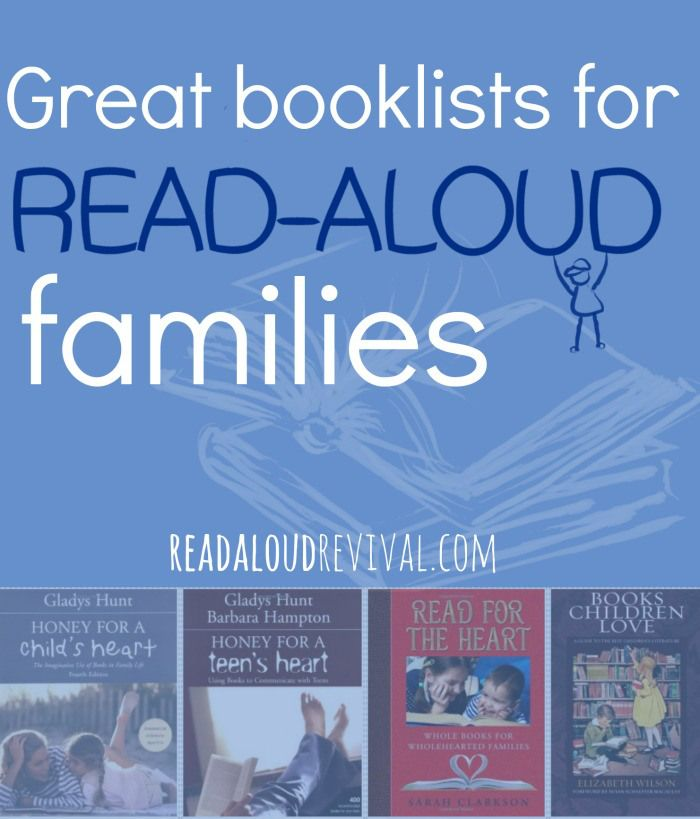 Great Booklists for Read-Aloud Families #bookstoread
