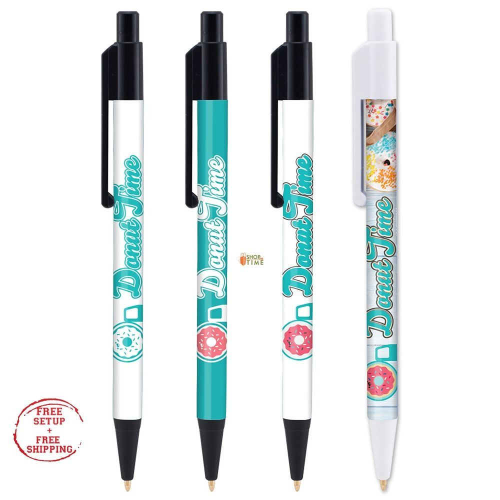 Advertising Pens Printed W Your Company Name Logo Text In Full Color 250 Qty Unbranded