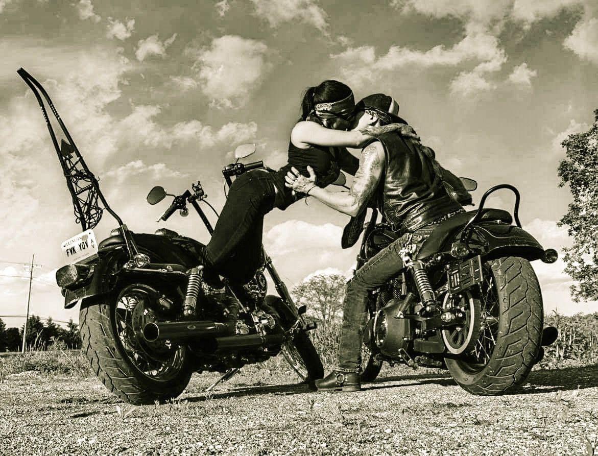 Bikercouple Biker Harleydavidson Harley Motorcycle Love