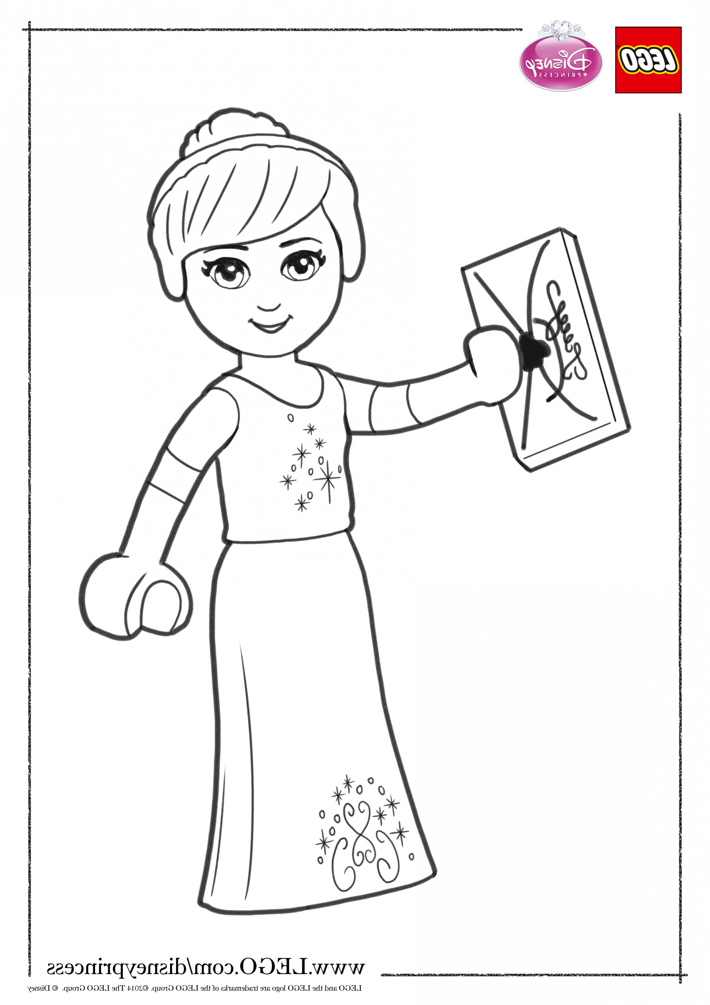 Lego Elsa Coloring Pages Pictures