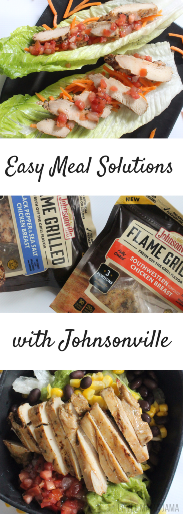 Easy Meal Solutions with Johnsonville Flame Grilled Chicken #ad