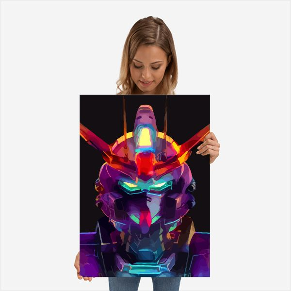 Neon Mecha | Displate thumbnail
