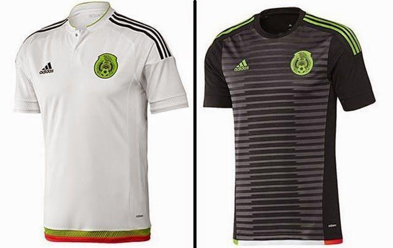 f5c21a34c7512 Nuevas camisetas de futbol 2014 2015 2016  Nueva camiseta de México para la  Copa América Chile 2015