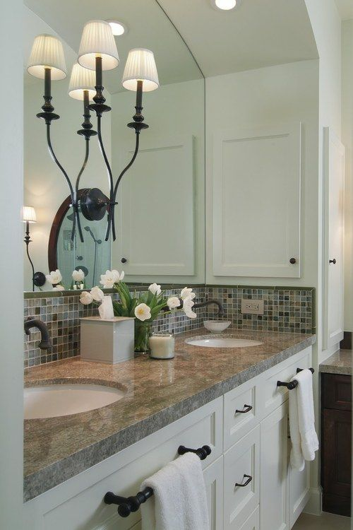 towels bars on front of vanity | Home Sweet Home | Pinterest ...
