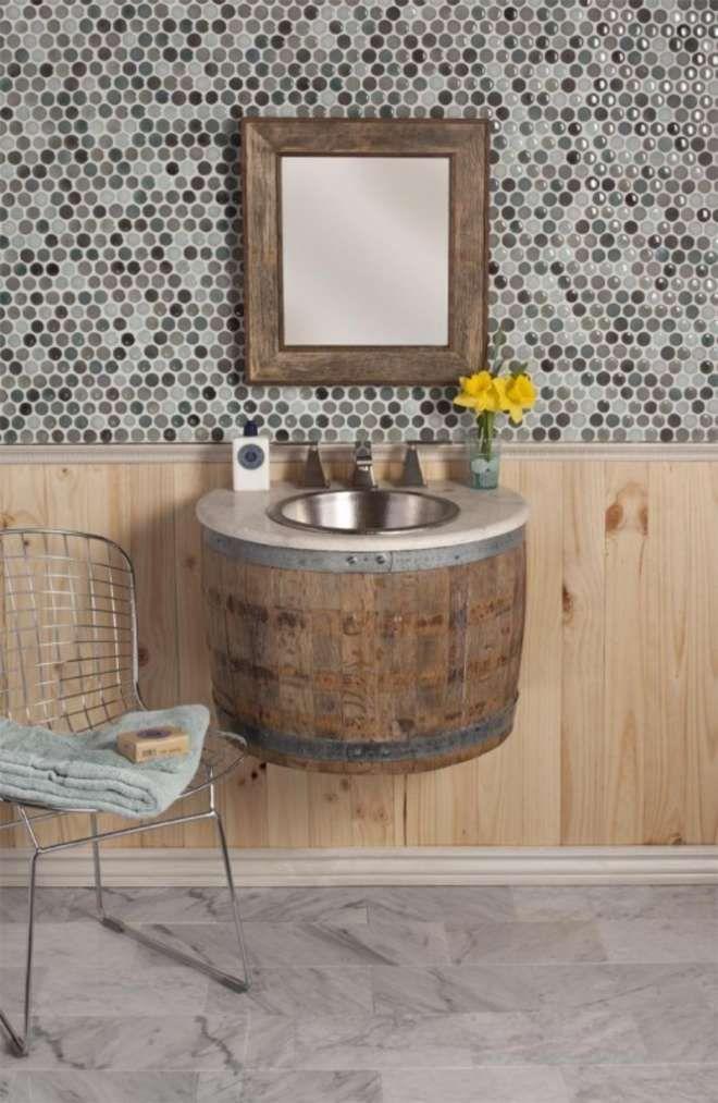 Upcycling für Fortgeschrittene Von der Tonne zum Waschbecken - badezimmer aus alt mach neu